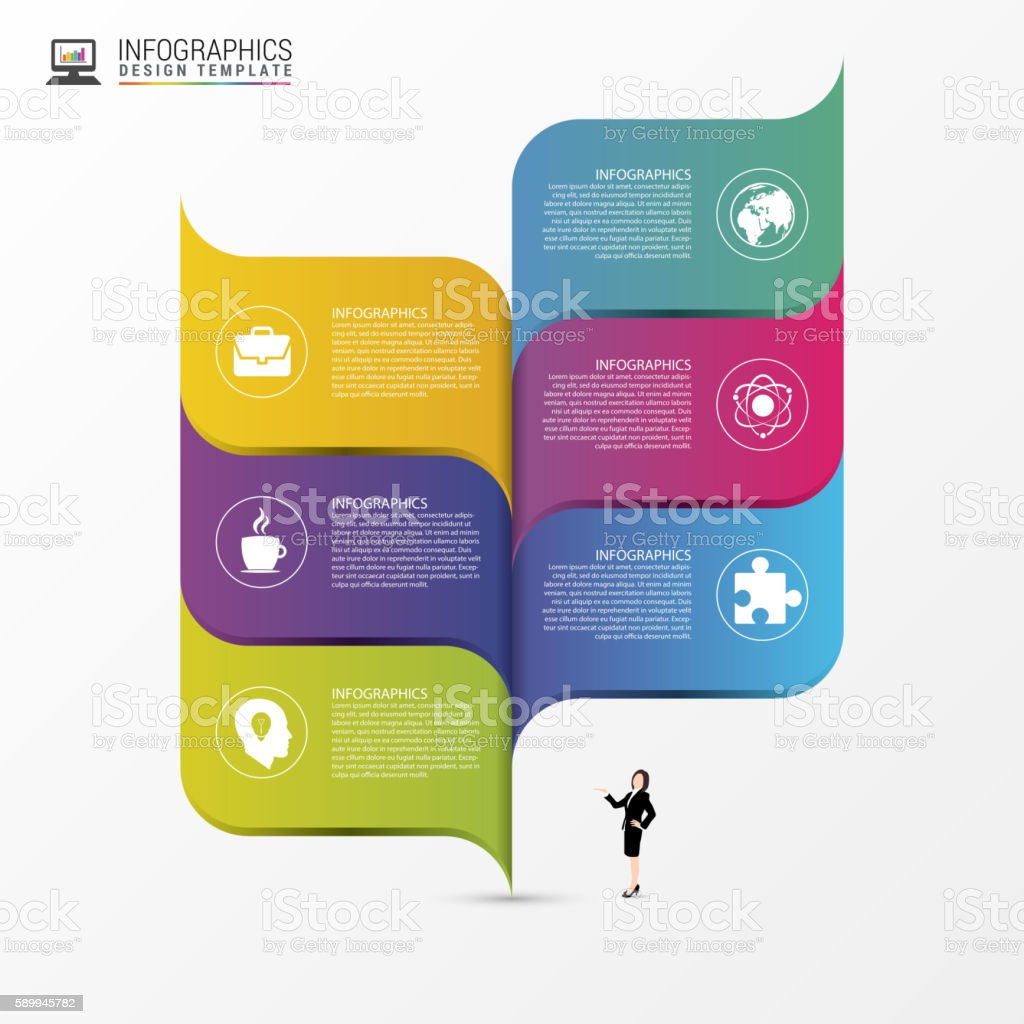 Abstract infographic design template. Vector vector art illustration