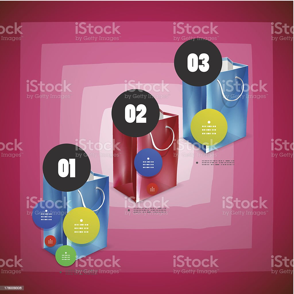 Abstract infographic shopping design royalty-free stock vector art