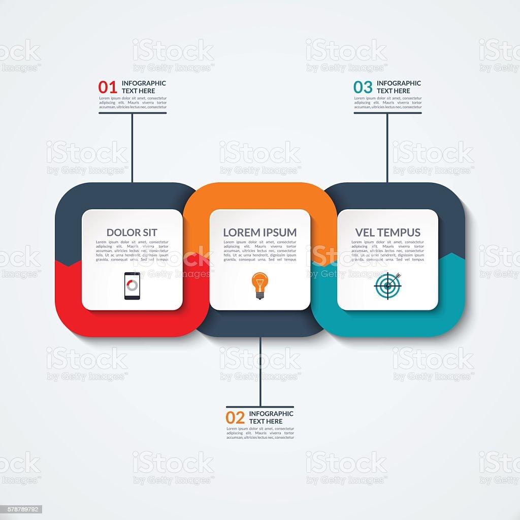 Abstrakte infographic template – Vektorgrafik