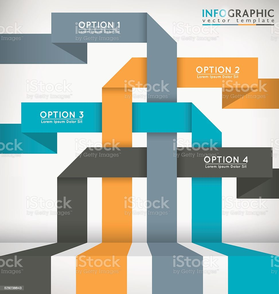 Abstract Infographic vector art illustration