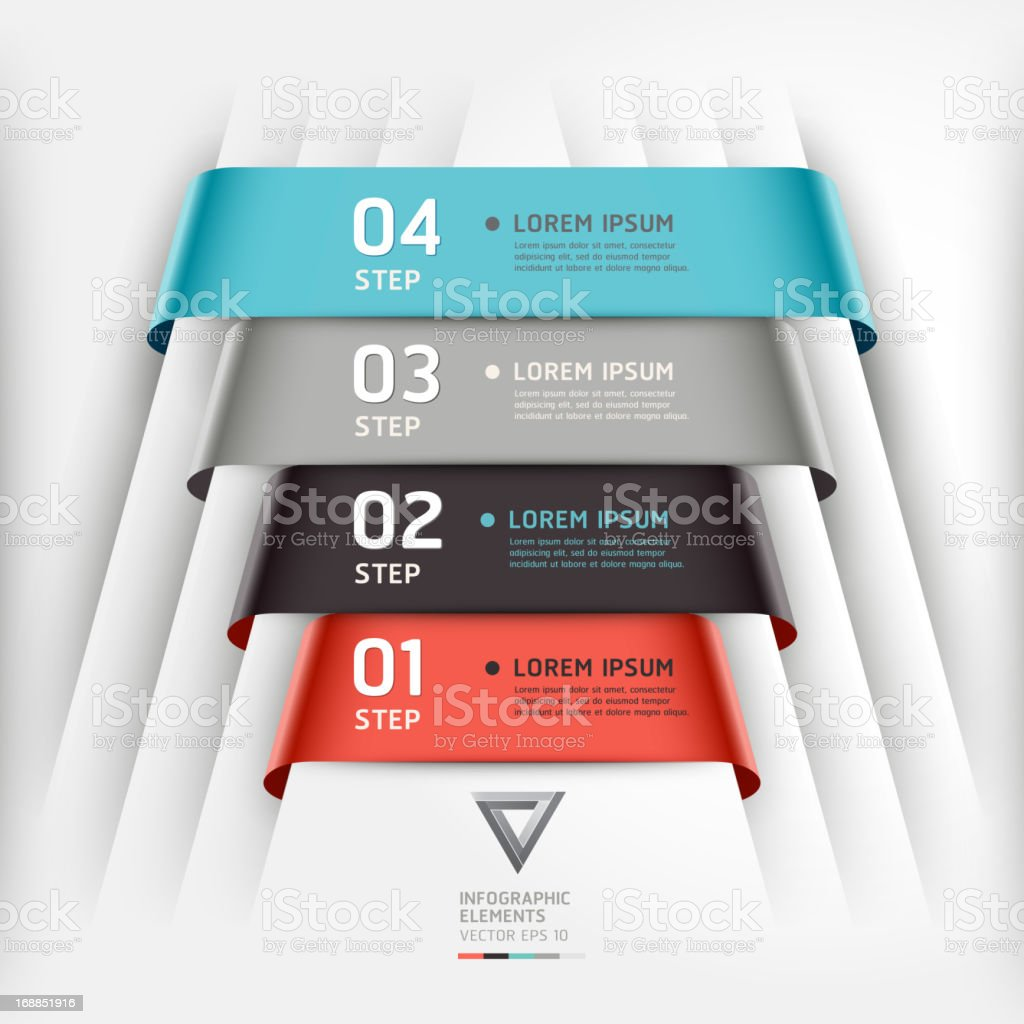 Abstract Infographics banner template. royalty-free stock vector art