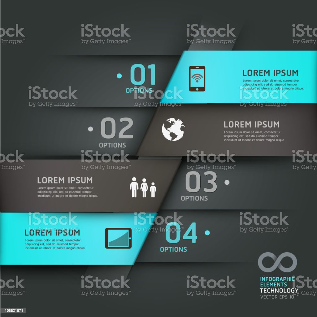 Abstract infographics communication technology origami style. royalty-free stock vector art