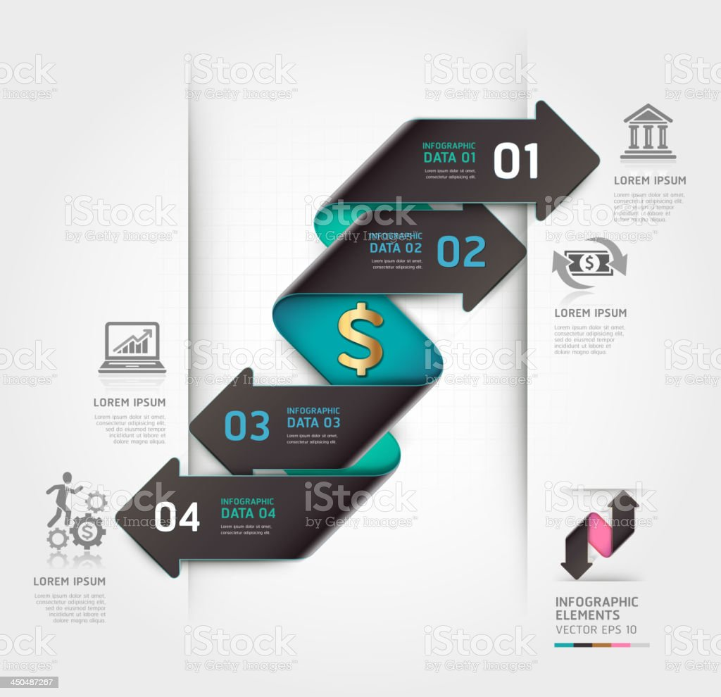 Abstract infographics finance arrow template. royalty-free stock vector art