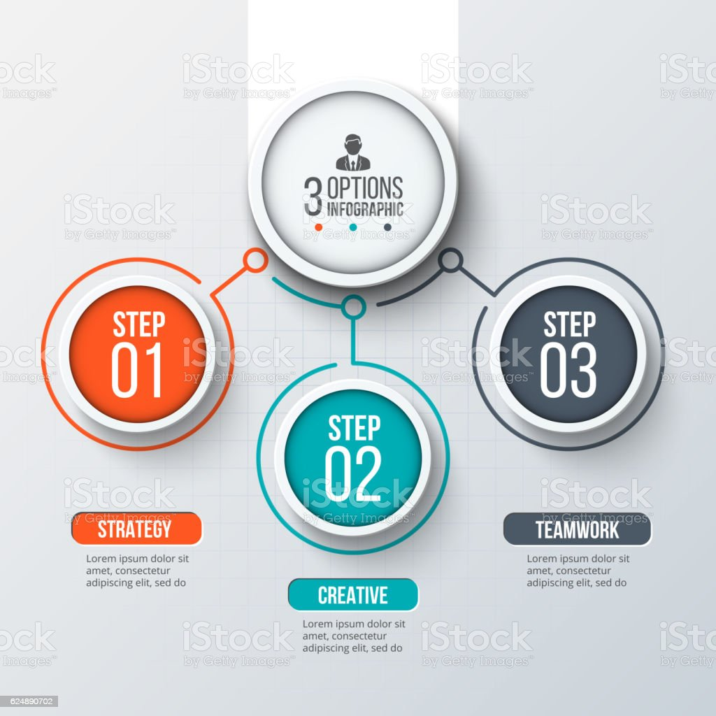 Abstract infographics number options template. royalty-free stock vector art