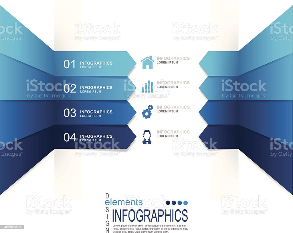 Abstract infographics royalty-free stock vector art