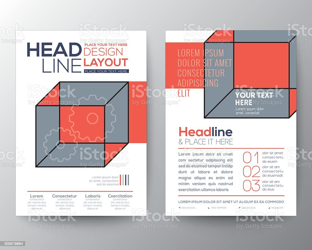 abstract isometric cube poster brochure flyer design layout 1 credit