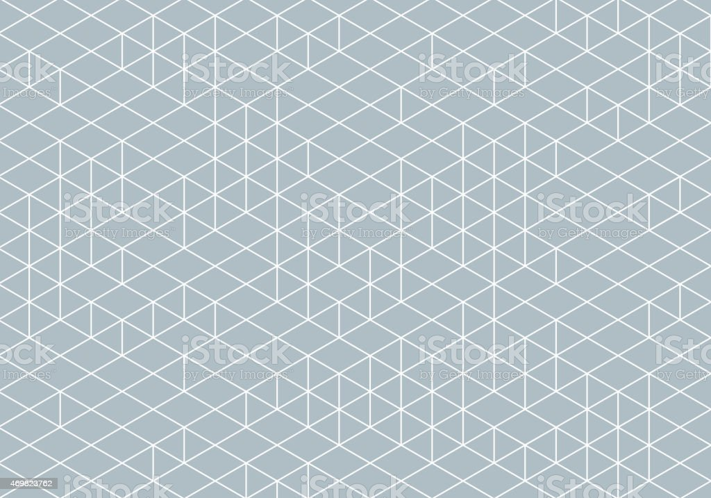 Abstract Isometry Wireframe Drawing vector art illustration