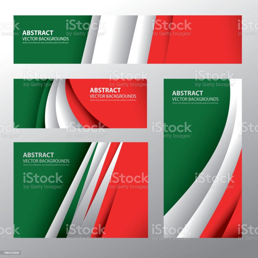 Abstract Italy Flag, Italian Colors (Vector Art) vector art illustration