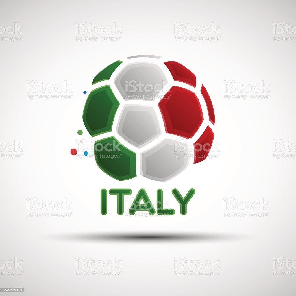 Abstract Italy soccer ball vector art illustration