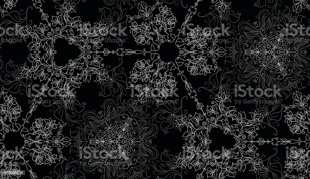 Abstract lacy seamless background vector art illustration
