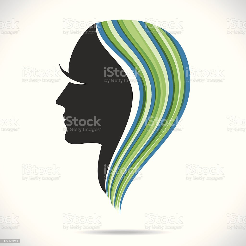 abstract lady vector royalty-free stock vector art