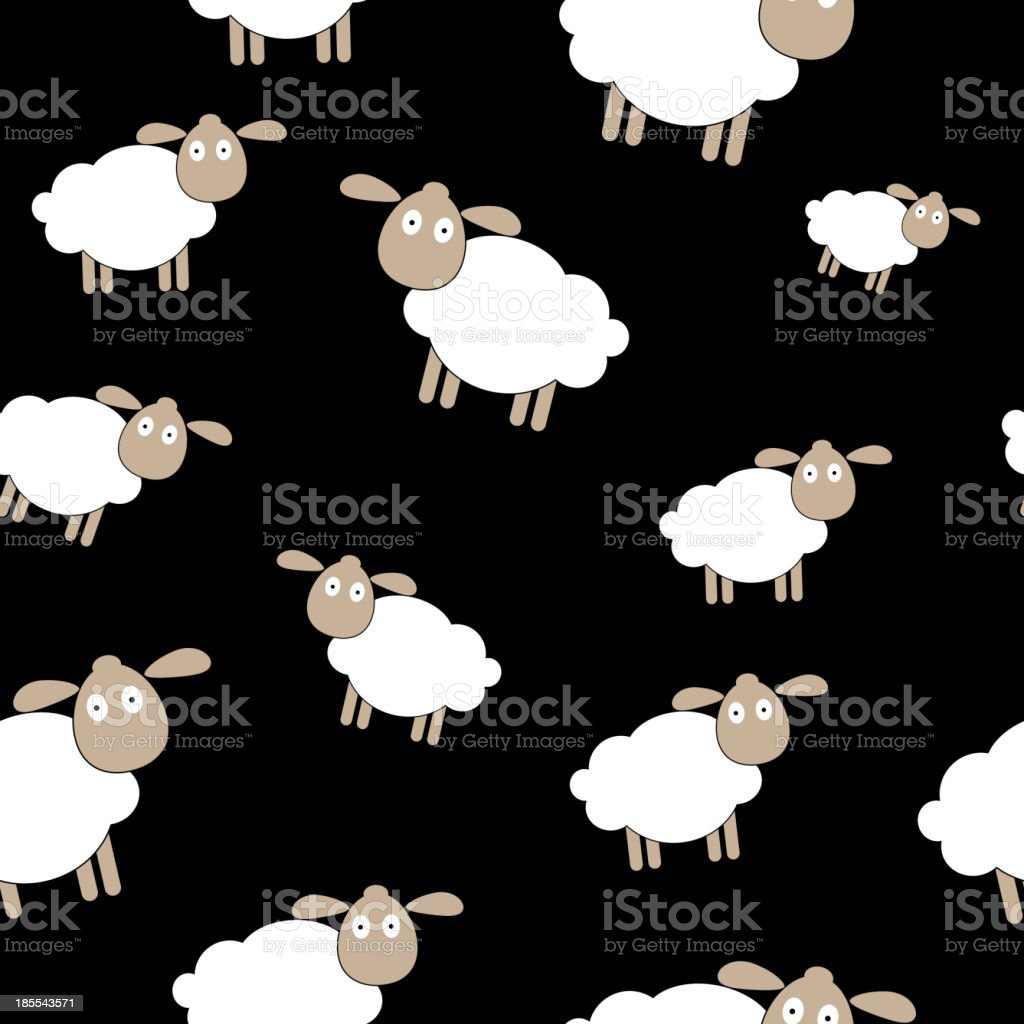 Abstract lamb seamless pattern background vector illustration royalty-free stock vector art