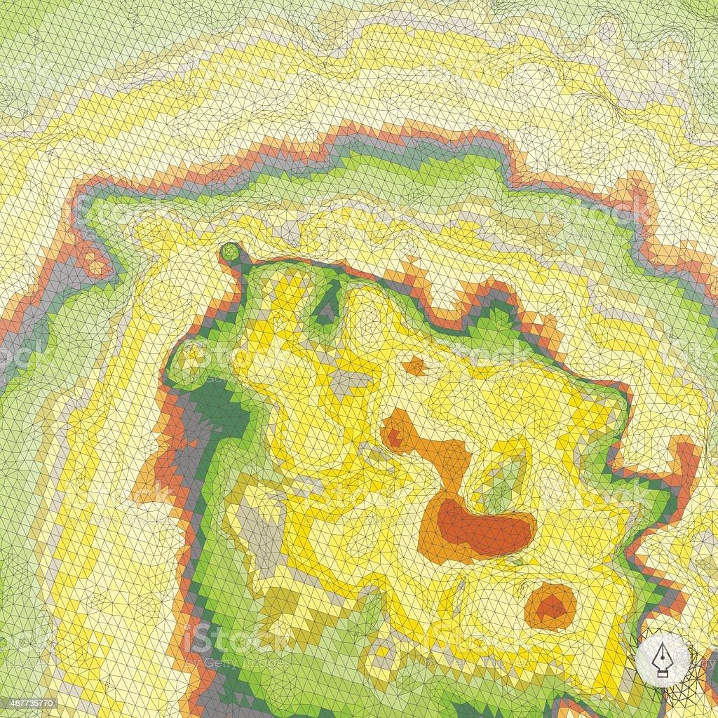 Abstract landscape background. Mosaic. vector art illustration