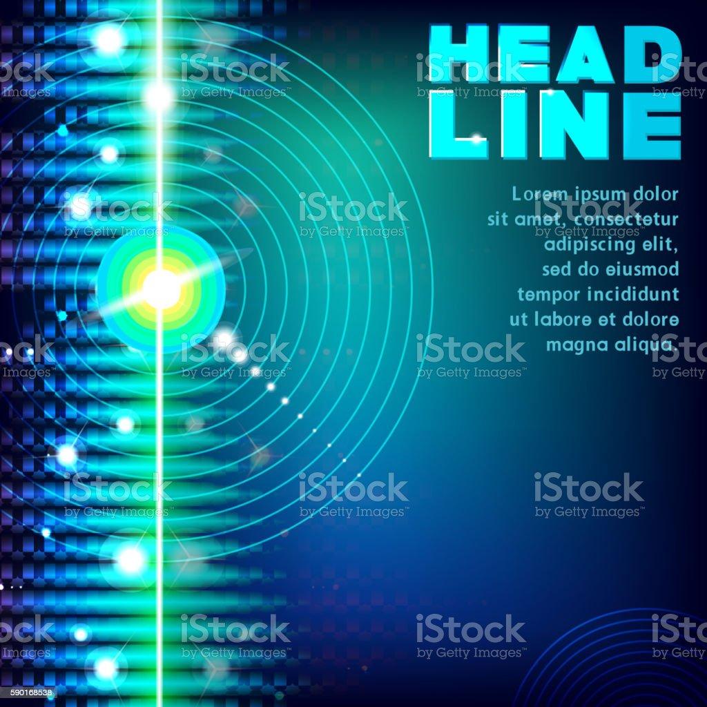 Abstract laser streak light on black background vector art illustration