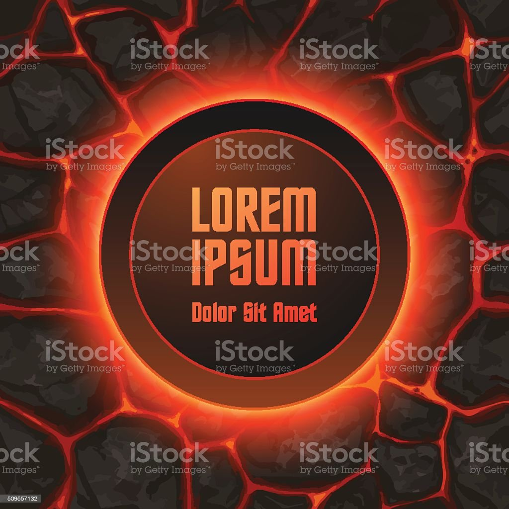 Abstract lava background template vector art illustration