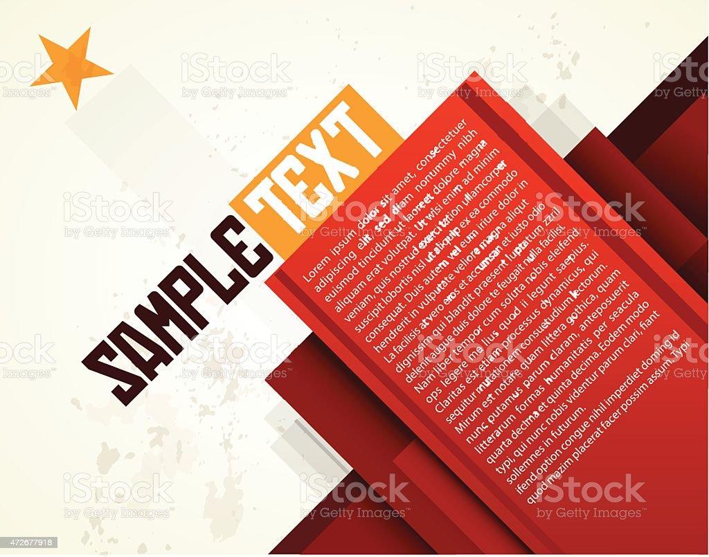 Abstract  layout design vector art illustration