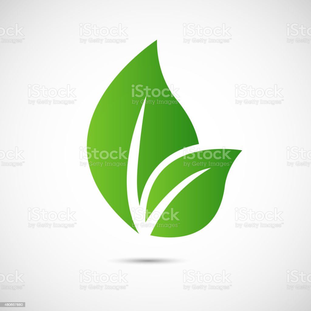 Abstract leafs care vector logo icon vector art illustration