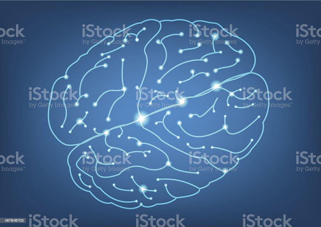 Abstract Left and Right brain function illustration vector art illustration