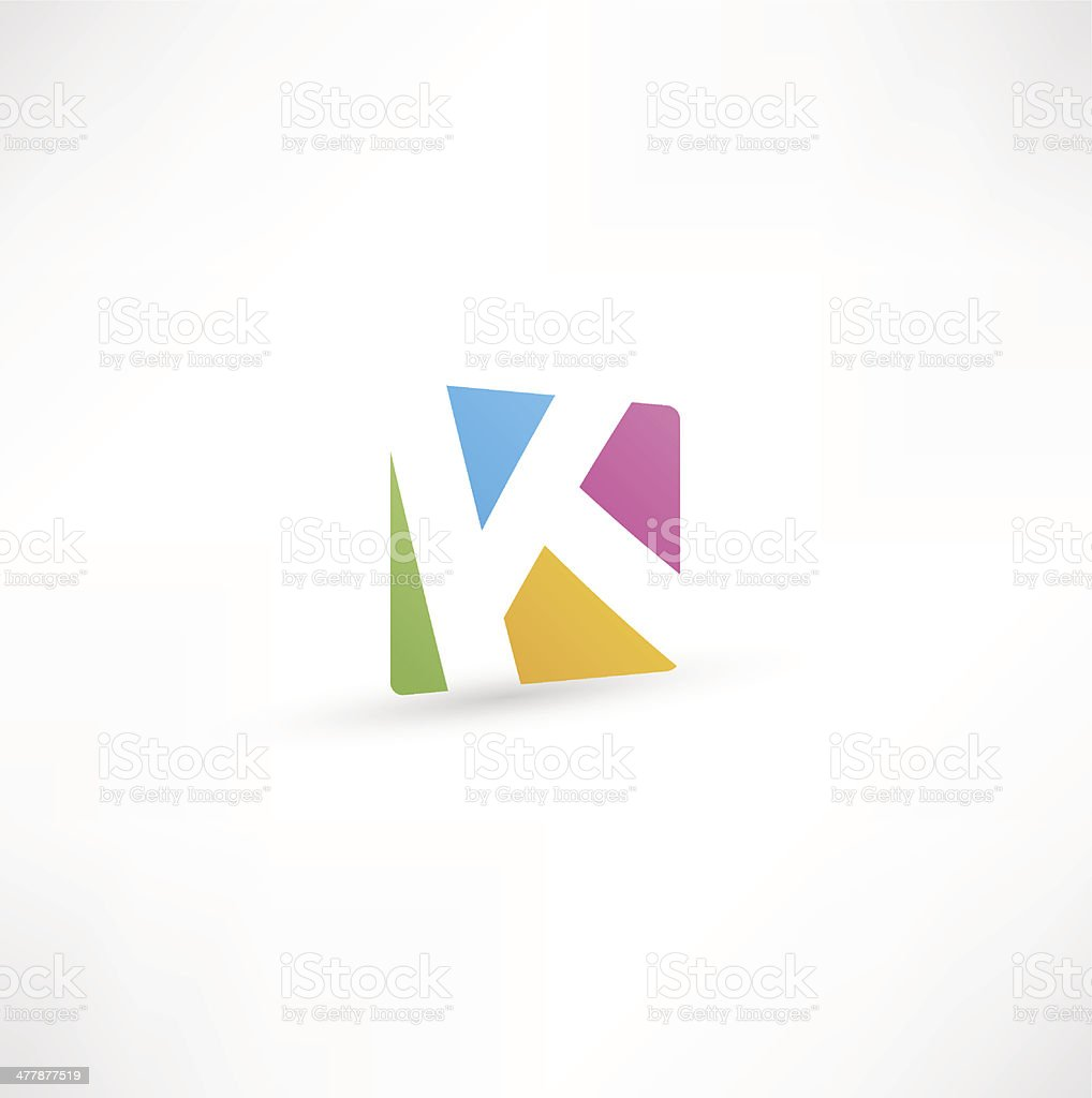 Abstract Letter A vector art illustration