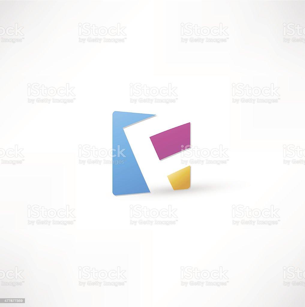 Abstract Letter F vector art illustration