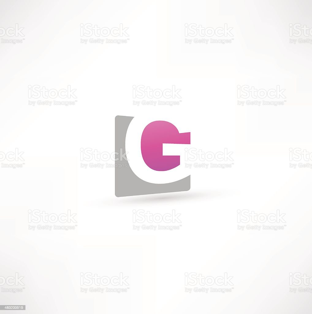 Abstract Letter G vector art illustration
