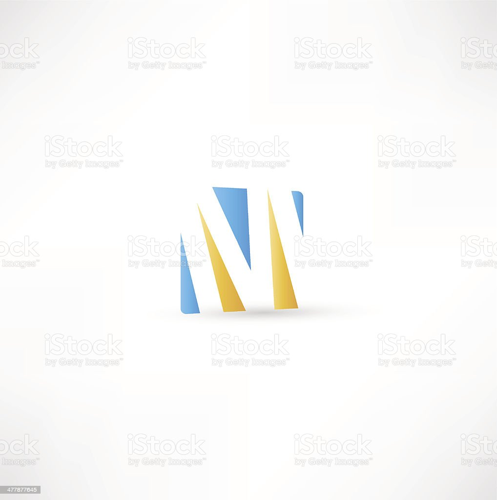 Abstract Letter M royalty-free stock vector art
