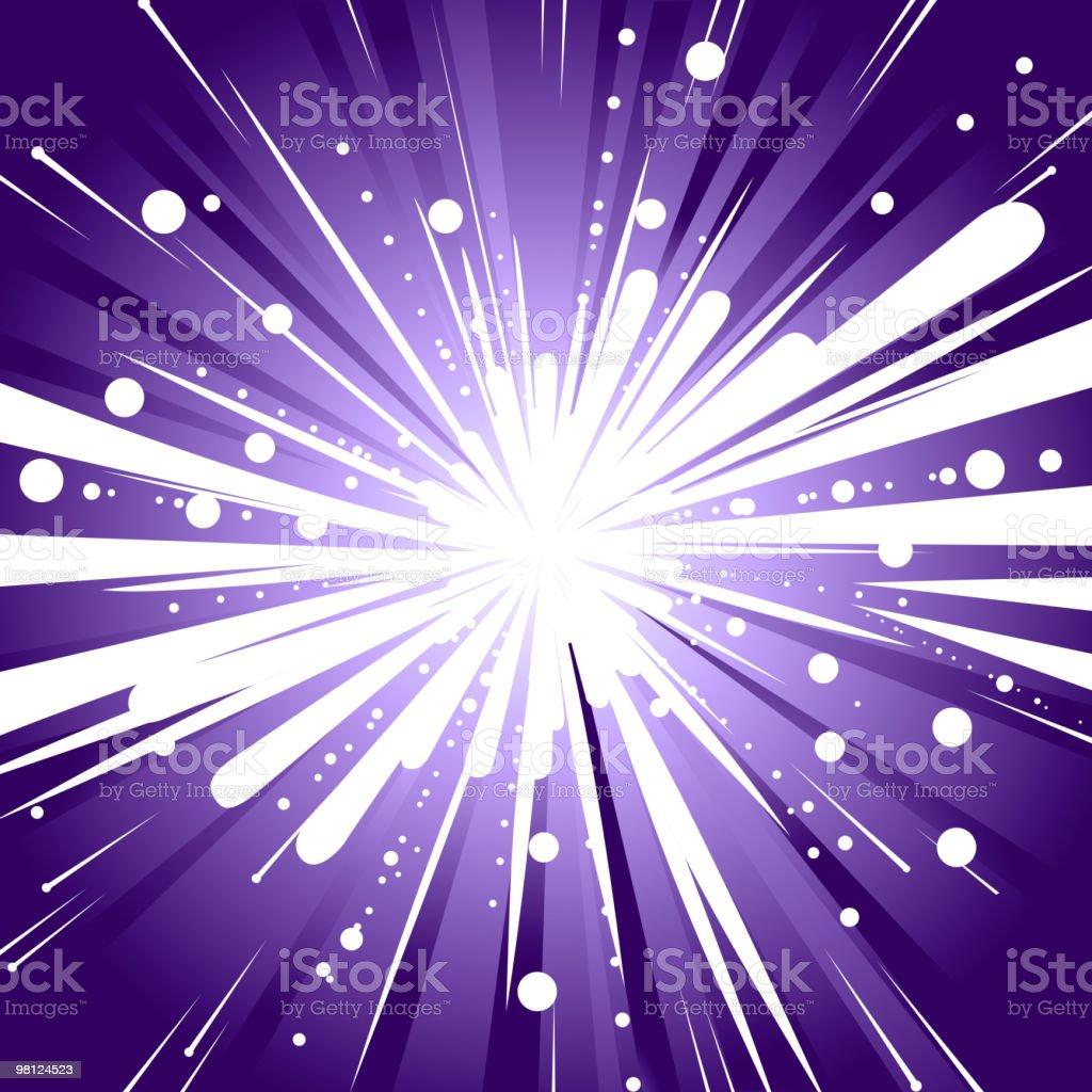 Abstract Light Burst Background royalty-free stock vector art