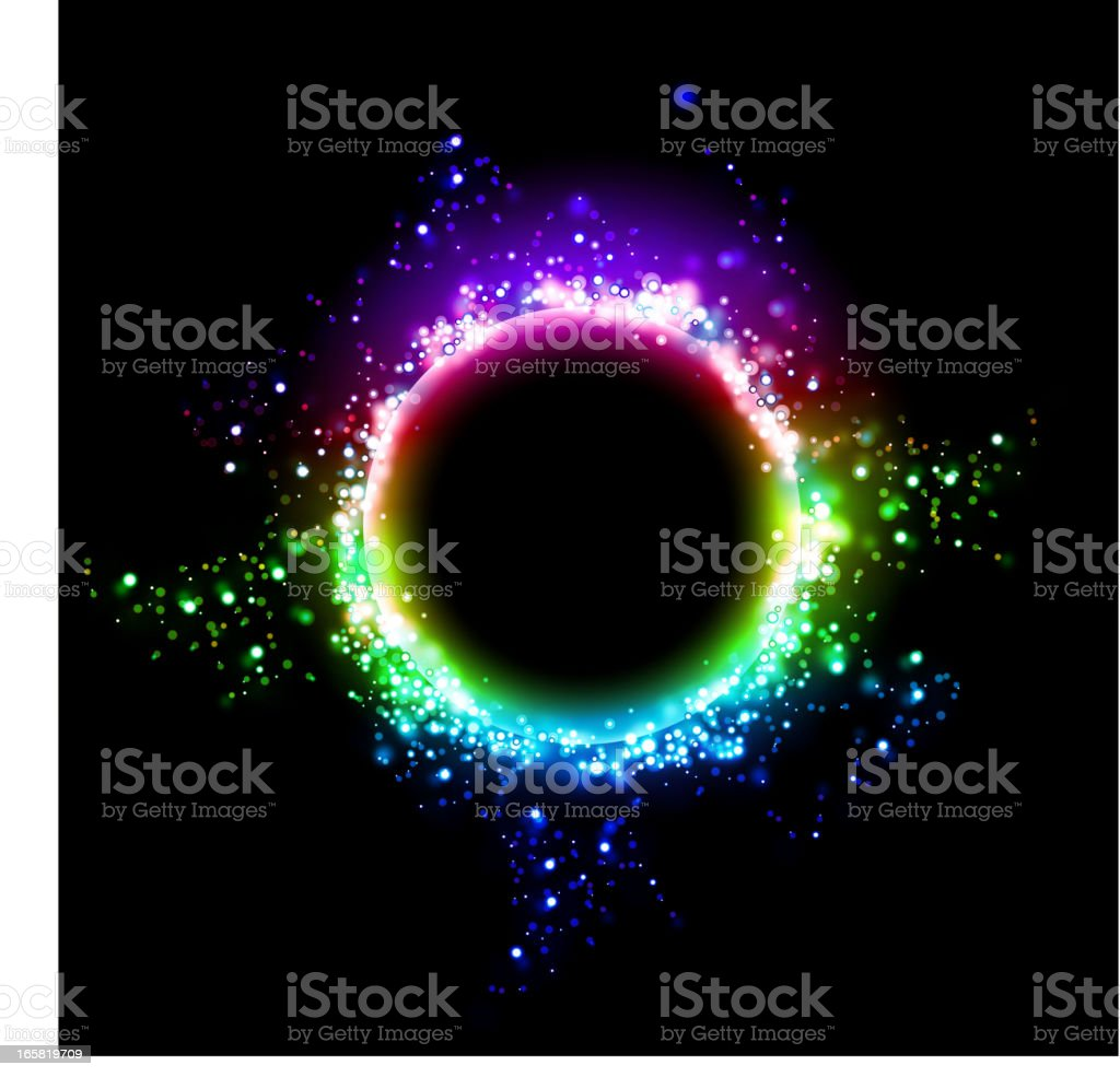 Abstract light vector art illustration