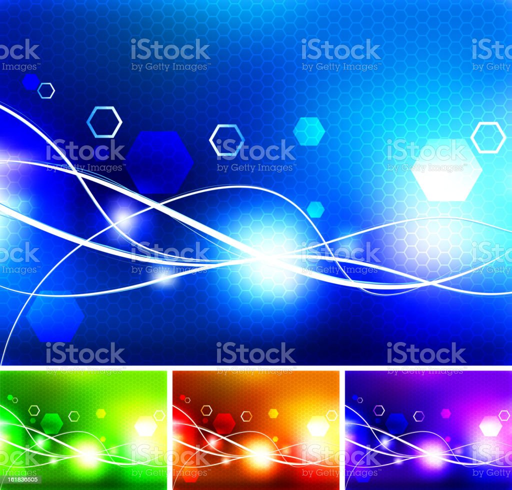 abstract light wave Background collection royalty-free stock vector art