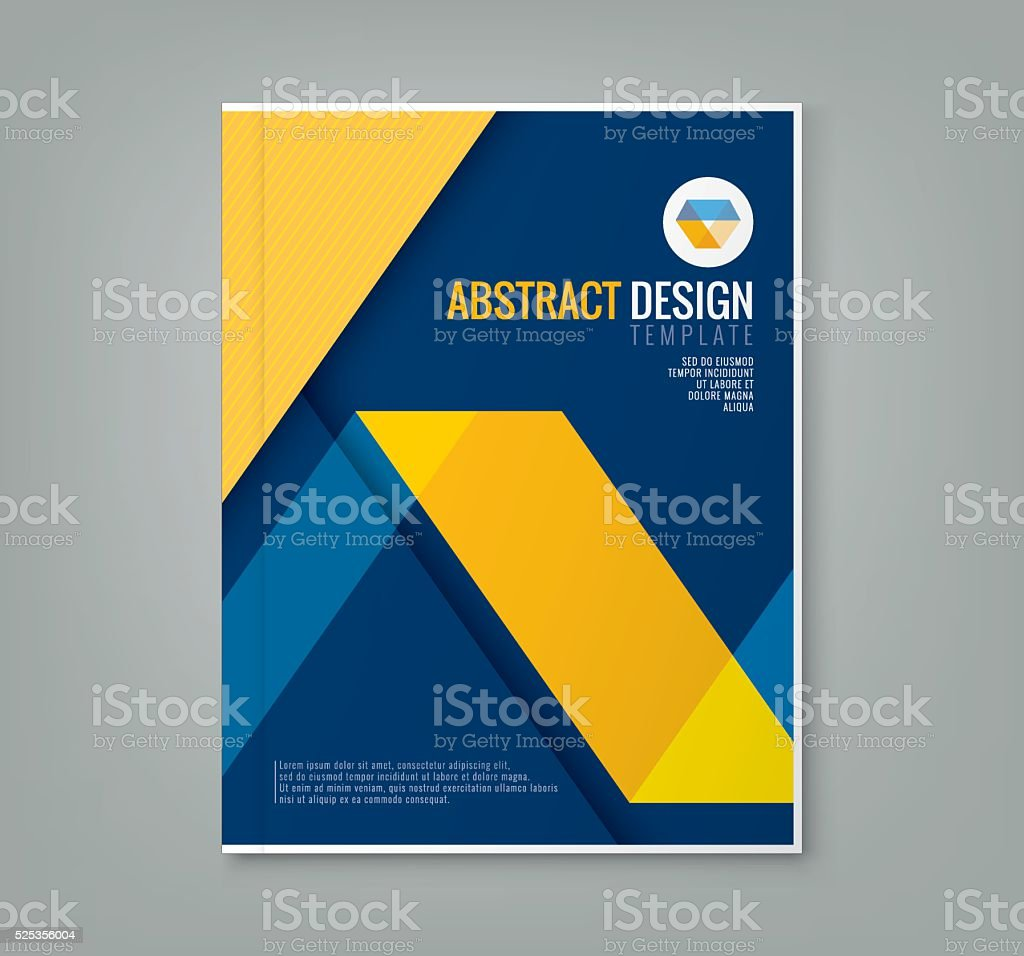 Abstract Line Design Background Template For Business Annual – Business Annual Report Template