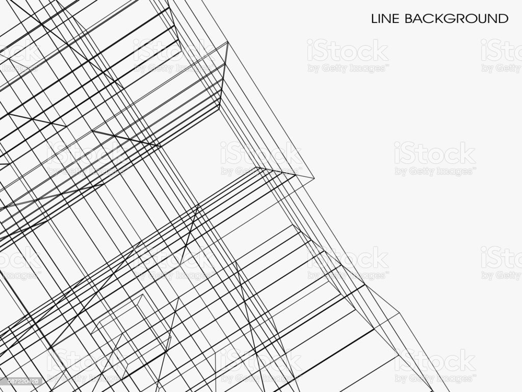 abstract line pattern background vector art illustration