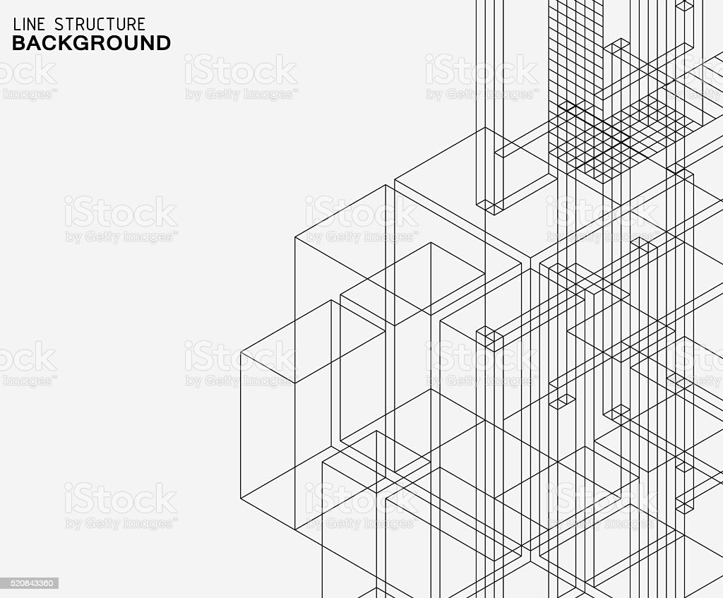 abstract line structure pattern background vector art illustration