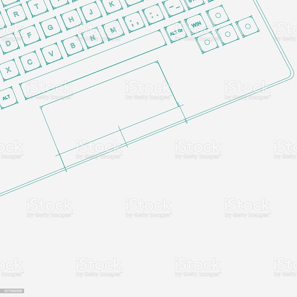abstract line structure style computer pattern background vector art illustration