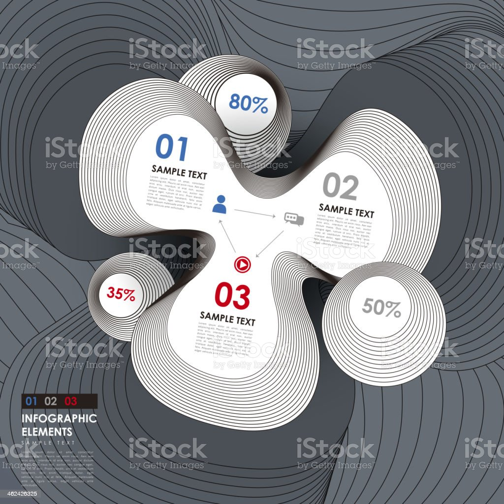 abstract line style infographics vector art illustration