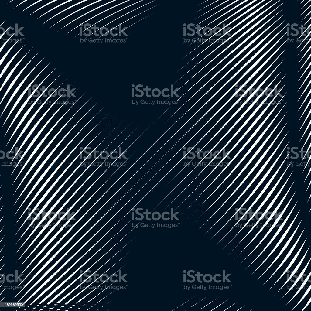 Abstract lined background, optical illusion style. Chaotic lines vector art illustration