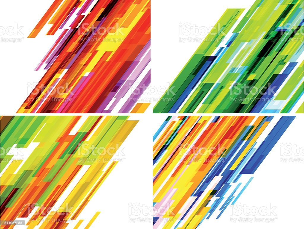 Abstract lines background vector art illustration