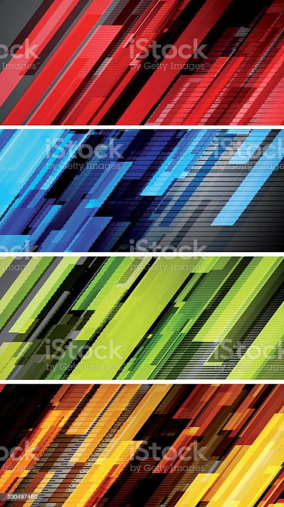 Abstract lines banners vector art illustration