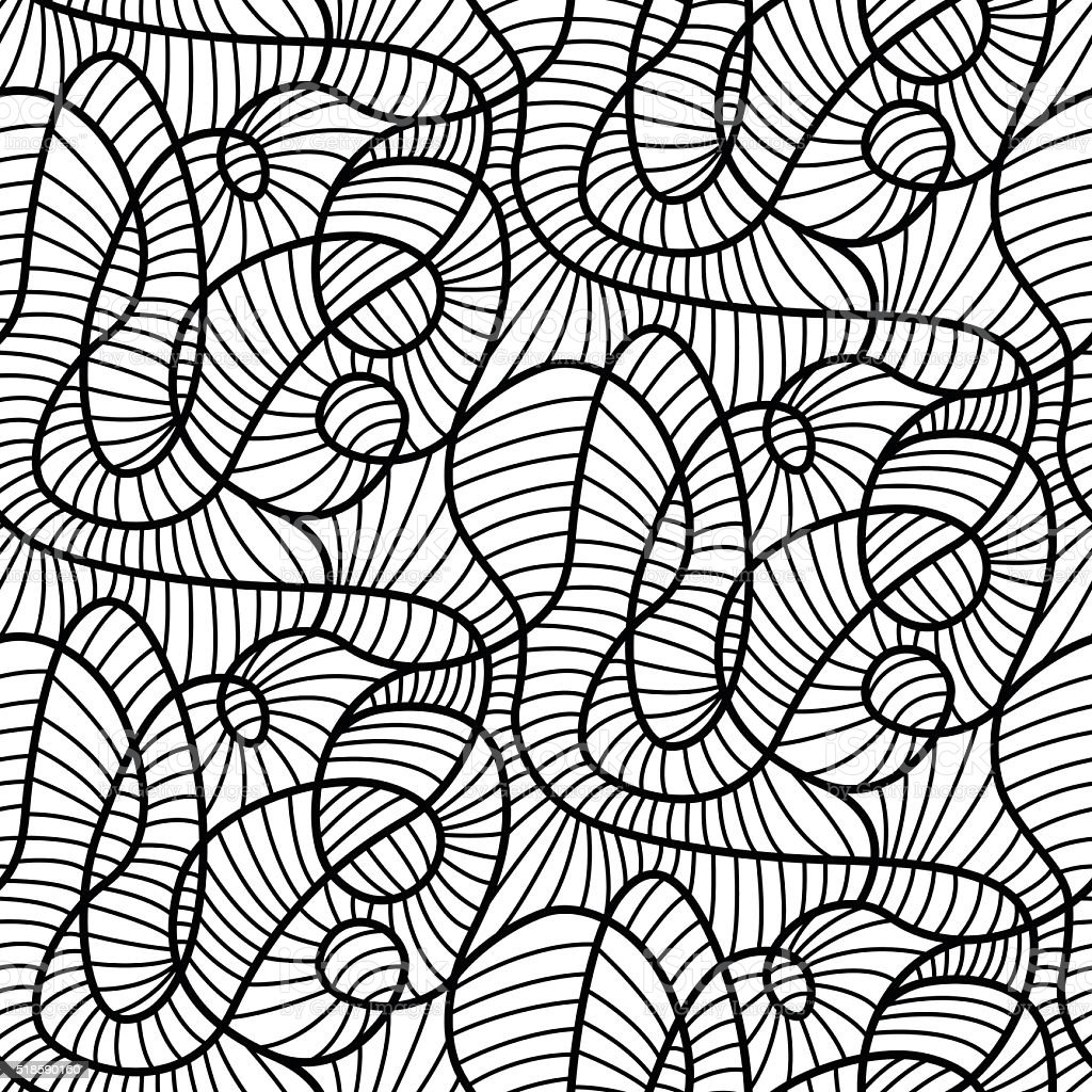 Abstract lines madness seamless pattern modern design vector art illustration