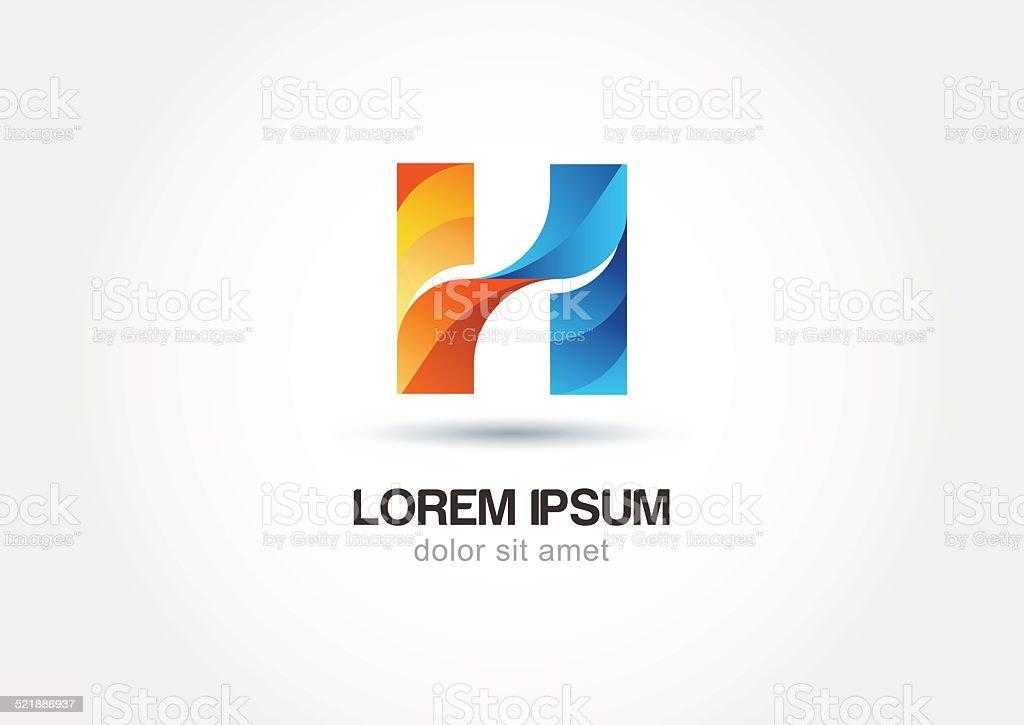 Abstract logo design letter h. Vector logo icon template. vector art illustration