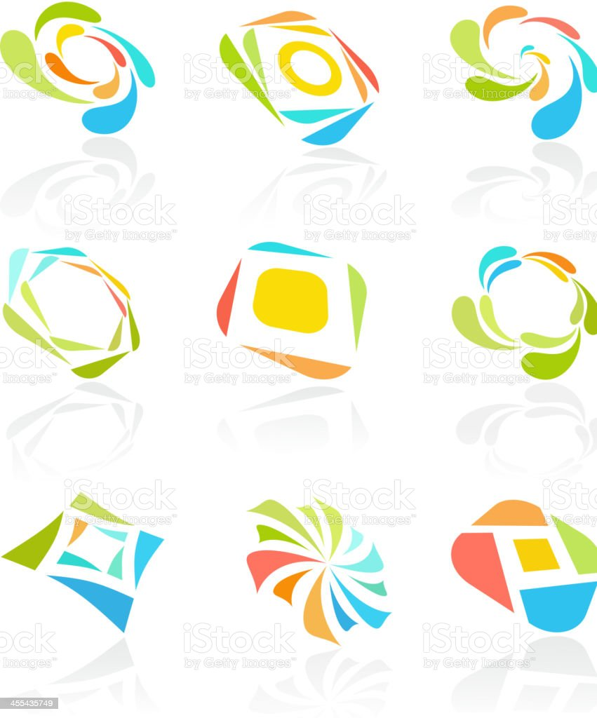 Abstract Logo royalty-free stock vector art