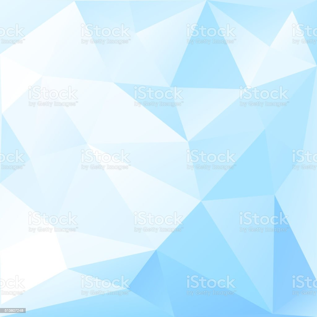 Abstract low poly background of triangles vector art illustration