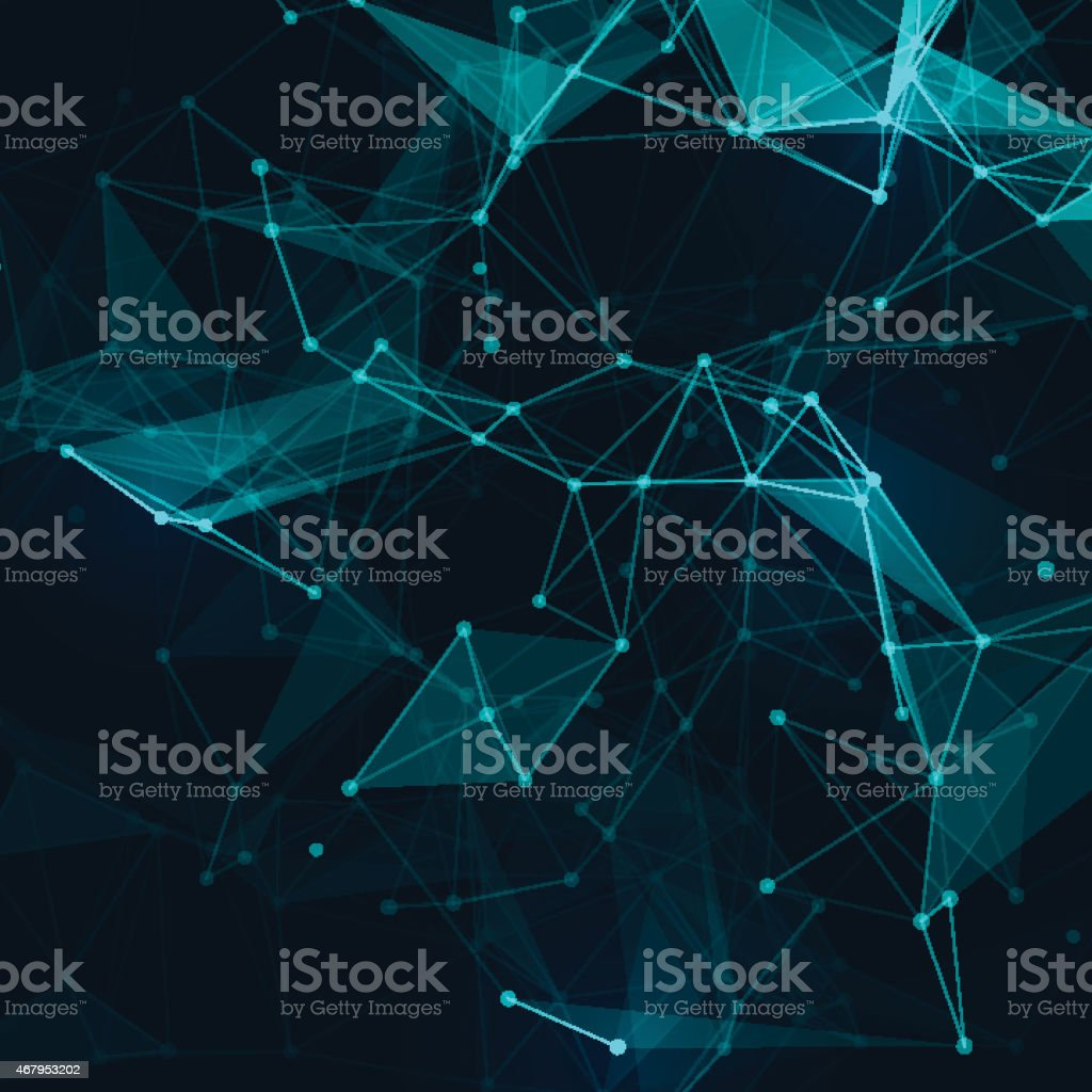 Abstract low poly grey bright technology vector background. vector art illustration
