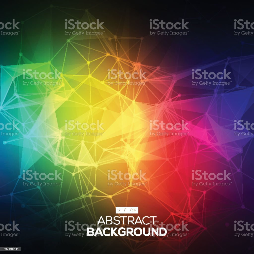 Abstract Low poly, Molecule And Communication Background. vector art illustration