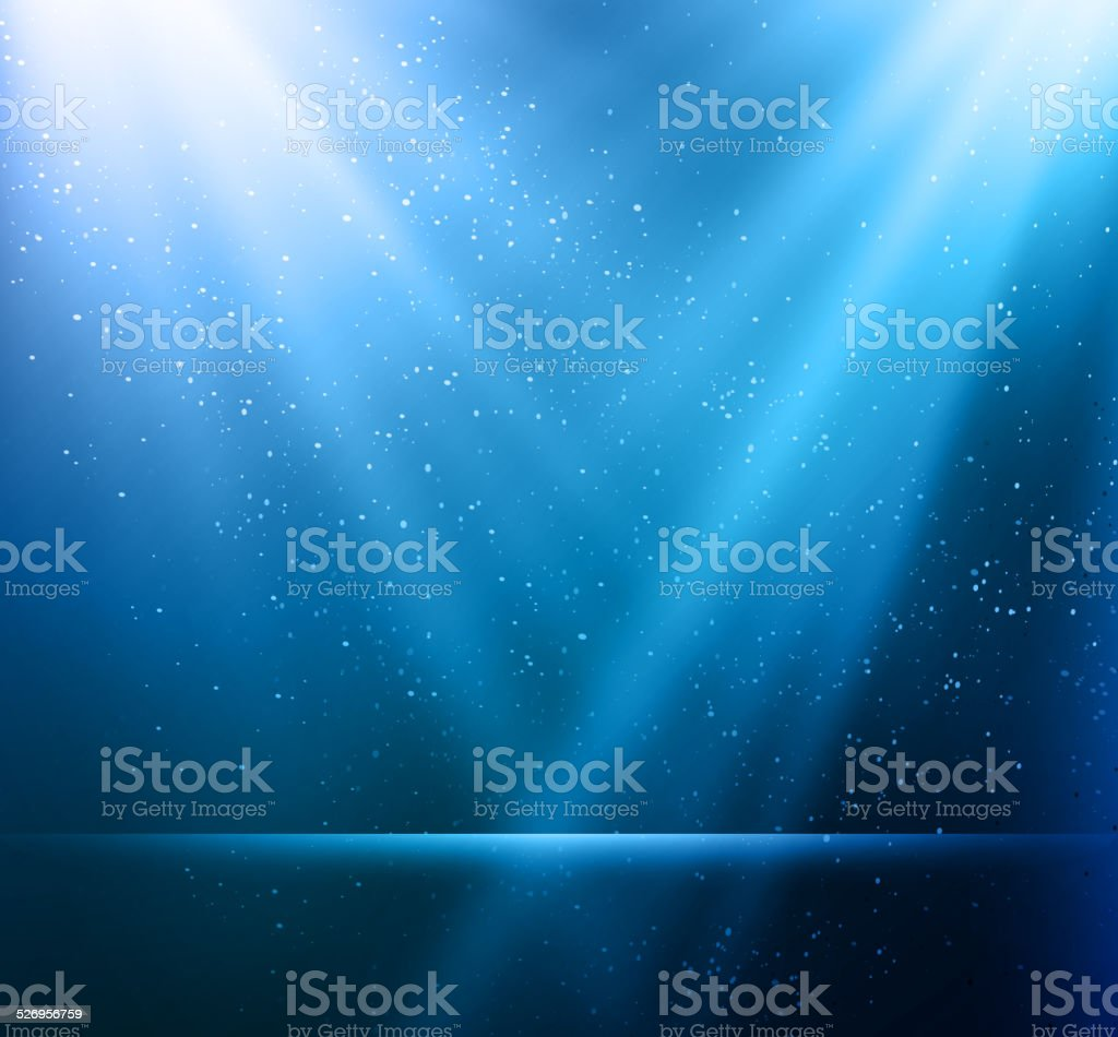 Abstract magic blue light background vector art illustration
