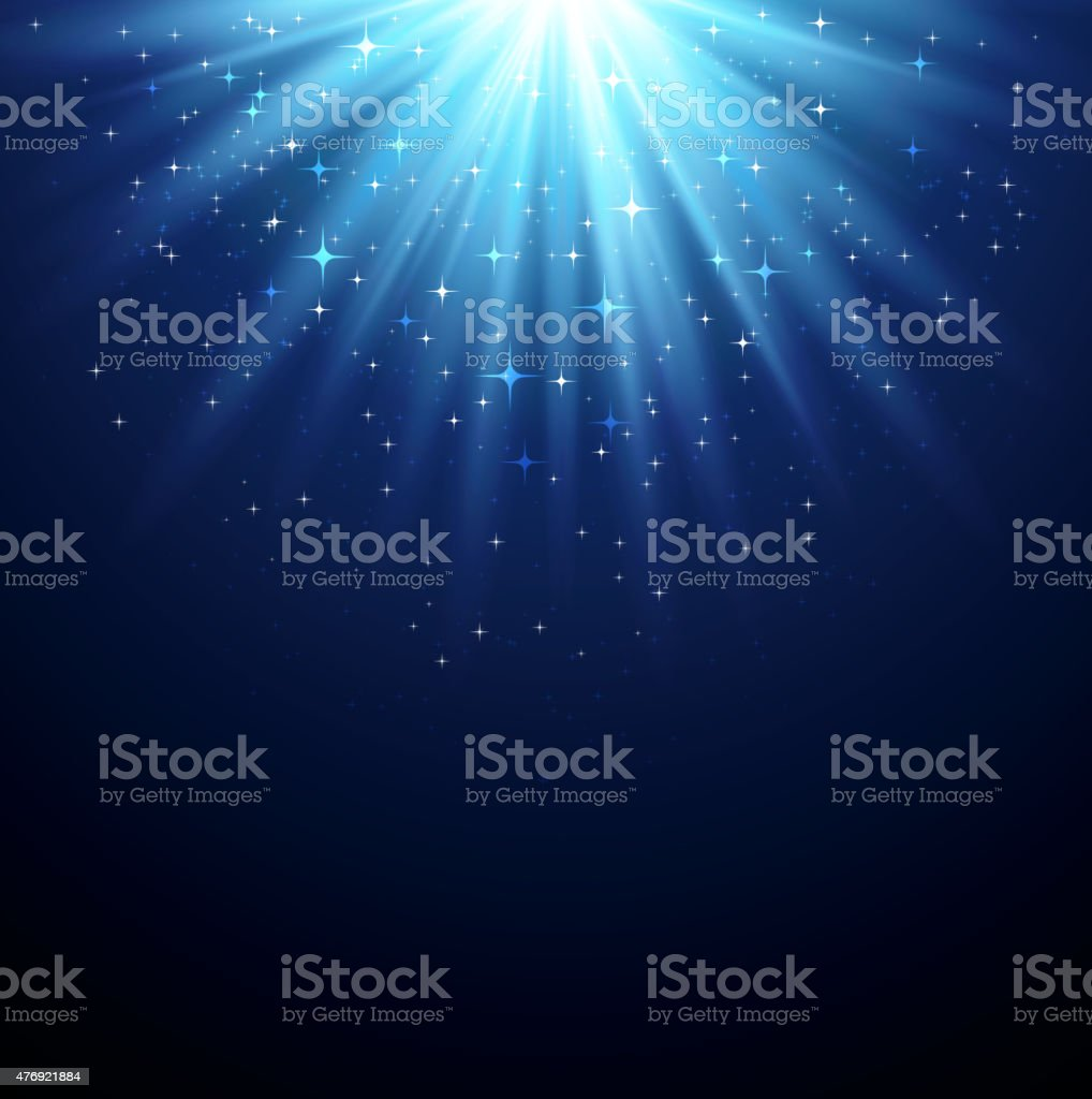 Abstract  magic light backgroud with star vector art illustration