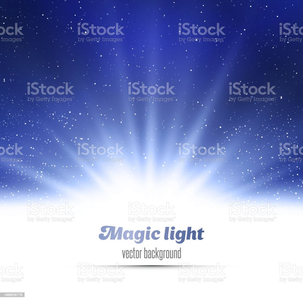 Abstract magic  light background vector art illustration
