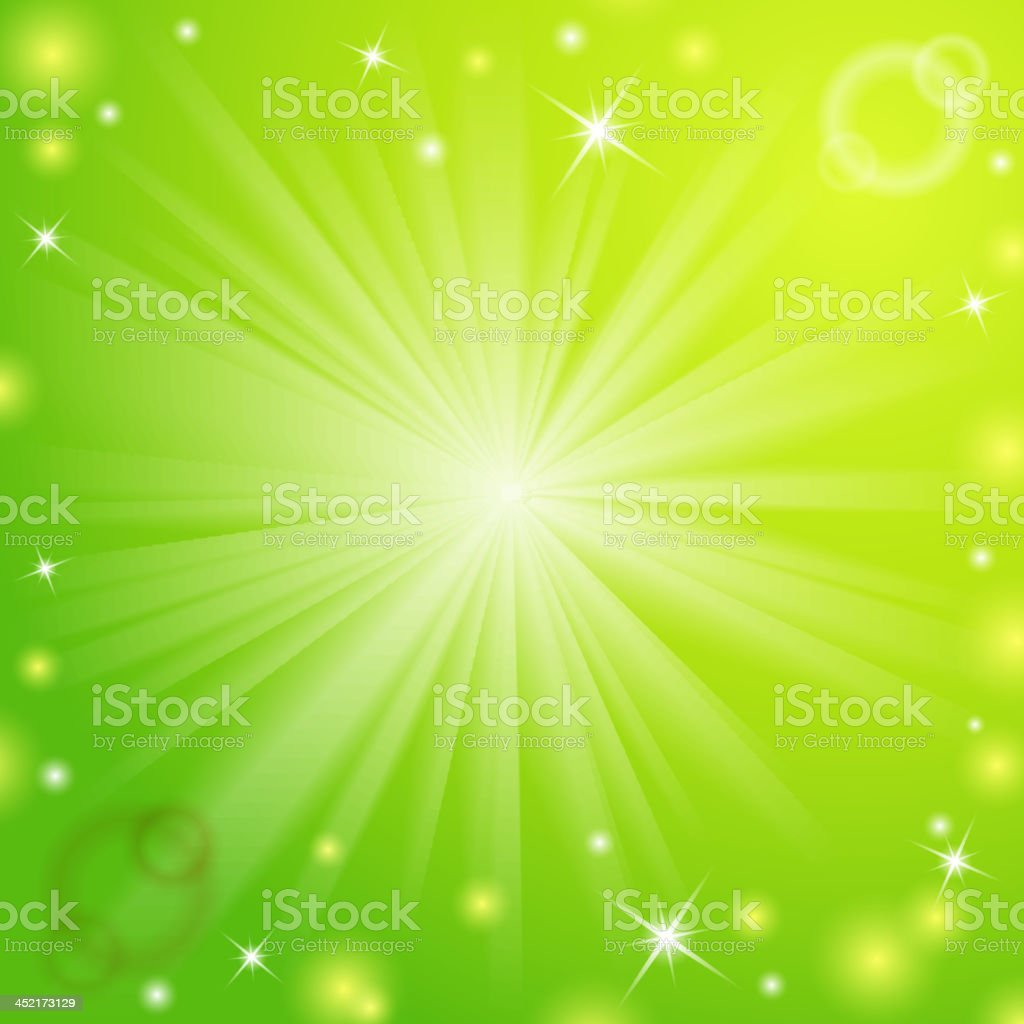 Abstract magic light green background. royalty-free stock vector art