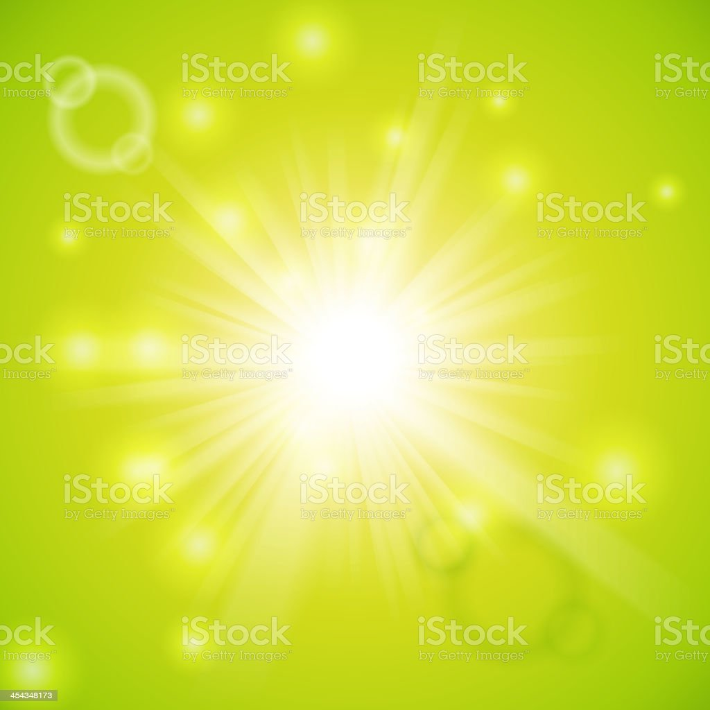 Abstract magic light green background royalty-free stock vector art