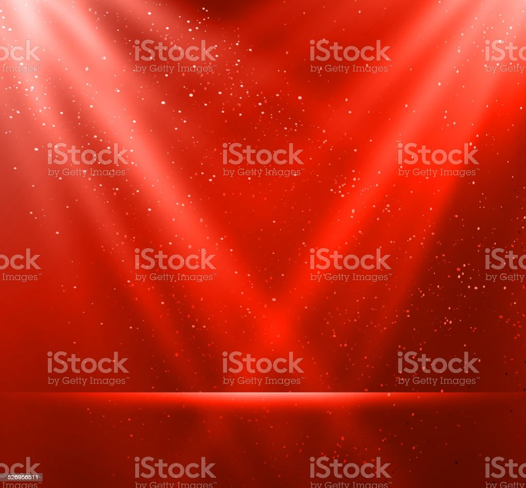 Abstract magic red light background vector art illustration
