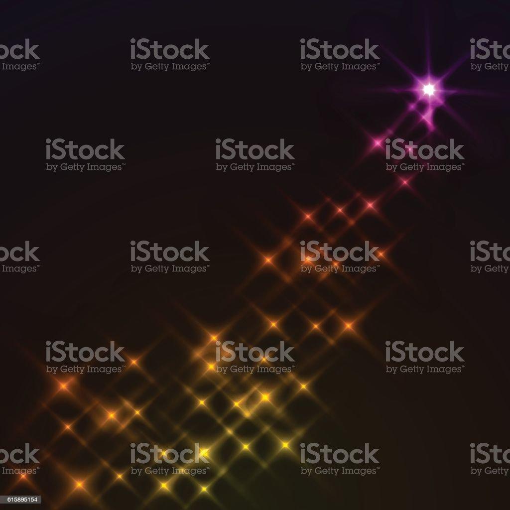 Abstract magic star vector art illustration